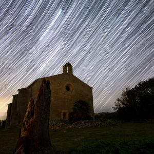 Star trails bellpuig marca d'aigua